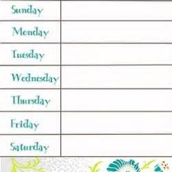weekly meal calendar template 7 best images of weekly calendar printable printable