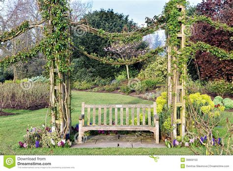 beautiful bench beautiful bench in a park stock photo image 39669150