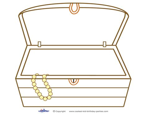 free coloring pages of open treasure box