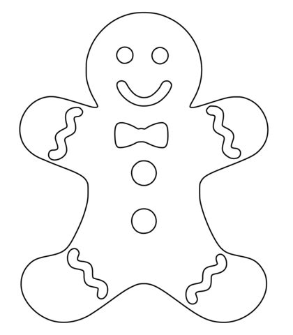 coloring page gingerbread boy gingerbread coloring page free printable