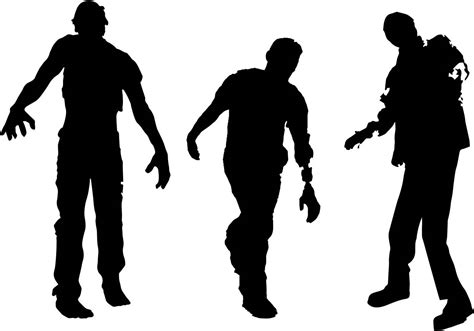 silhouette vector free zombie silhouette vector download free vector art