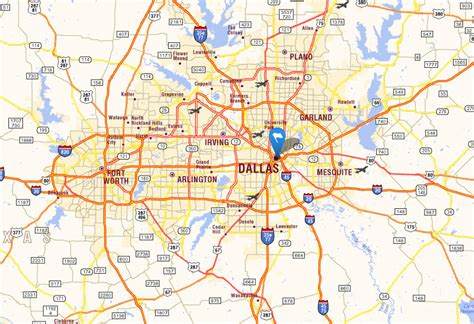 dallas texas road map dallas texas map