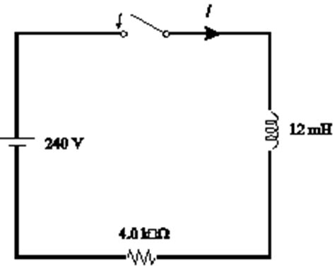 formula for potential difference across inductor the switch in the figure is closed at t 0 when chegg