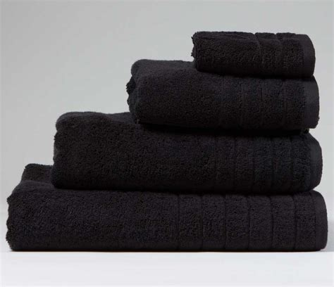 black bathroom towels luxurious linenhall 650gsm bath towel in black