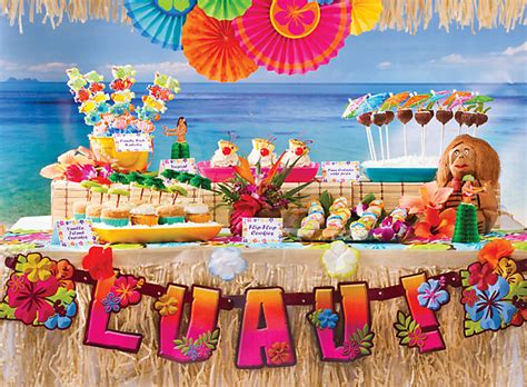 theme names for hawaiian parties sweet ideas for luau party treats party city