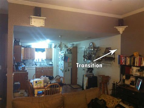 painting an open floor plan how do i make a quot smooth quot transition with two paint colors