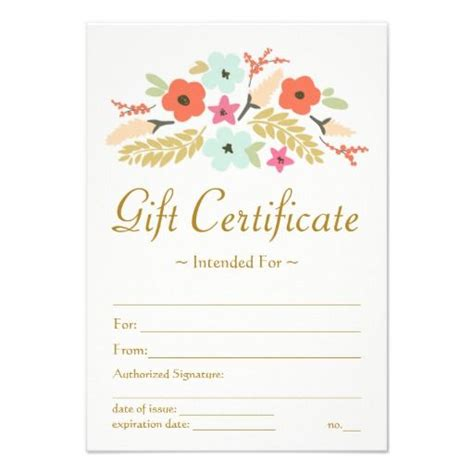 sle gift vouchers templates 25 best images about gift certificate templates on