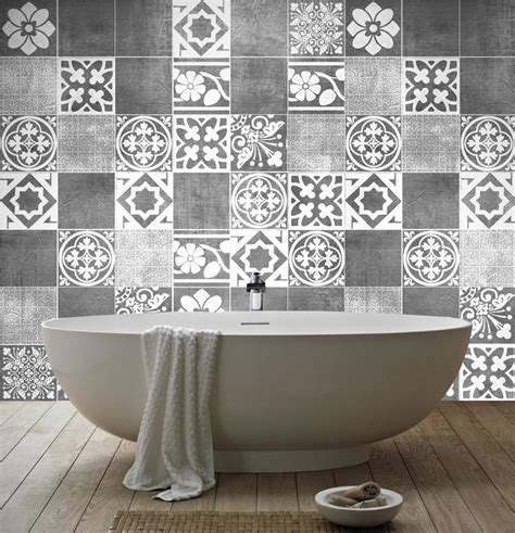 Bathroom Tile Transfers B Q Carrelage D 233 Coration De Luxe Pack Avec 14