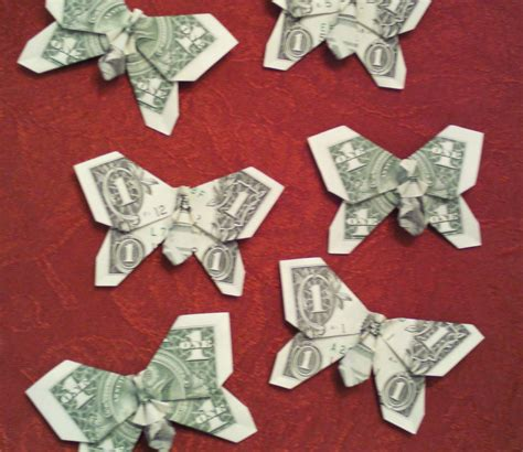 Origami Dollar Bill Butterfly - origami money one dollar or two dollar bill by shutupandfold