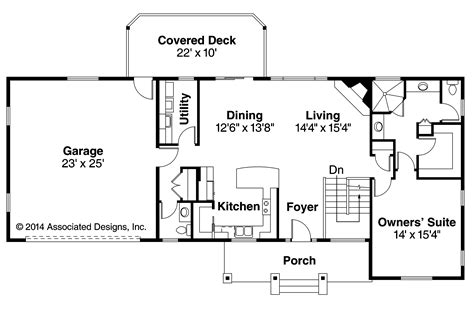 Ranch House Floor Plan by Ranch House Plans Gatsby 30 664 Associated Designs