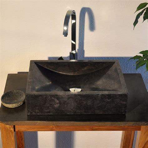 waschbecken waschtisch aufsatzbecken naturstein marmor bad - Waschbecken Bad Schwarz