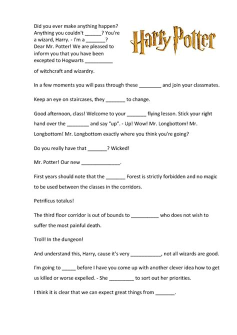 harry potter printable activity sheets movie trailer harry potter and the sorcerer s stone