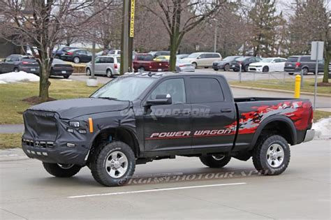2018 dodge ram power wagon 2018 ram power wagon prototype spotted with new grille