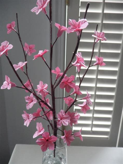 Origami Cherry - origami paper cherry blossoms pink cherries paper and