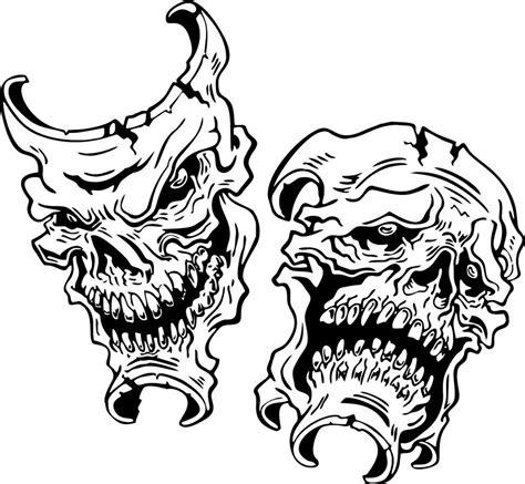 Kaos Skull Joker Lp happy sad evil skull joker car boat truck laptop window vinyl decal sticker ebay