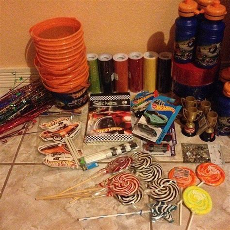 about to make hotwheels centerpieces for my s