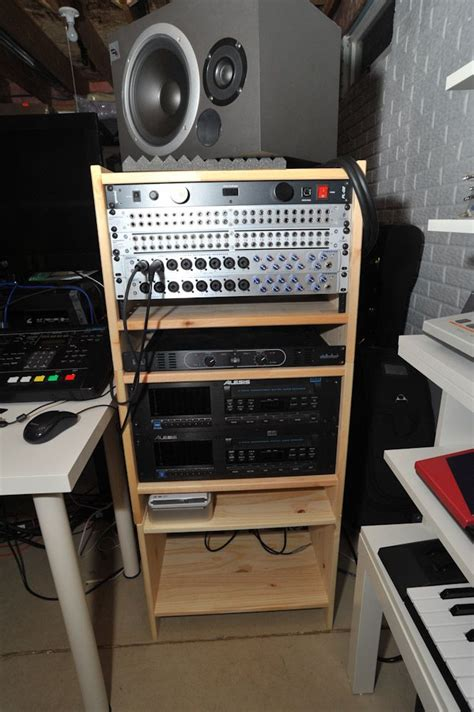 228 Best Images About 19 Inch Rack Desk Building Diy Studio Desk With Rack Mount