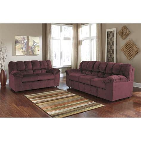 burgundy sofa set julson 2 fabric sofa set in burgundy 26602
