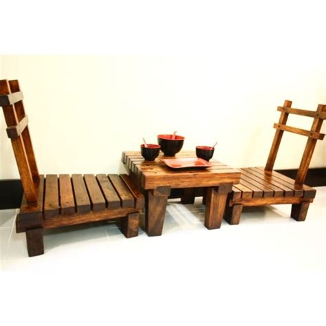 japanese style low dining table set sublime exports