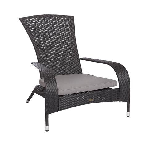 black adirondack chairs home depot patio sense coconino black wicker plastic adirondack chair