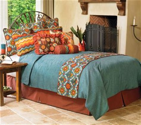 orange and turquoise bedding chambray new beds and colors on pinterest