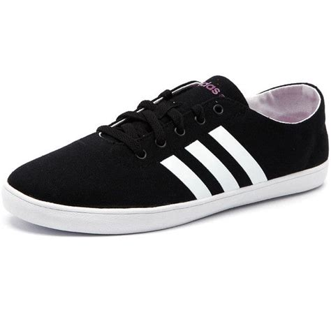 adidas shoes flat adidas neo s qt vulc vs black white pink found on