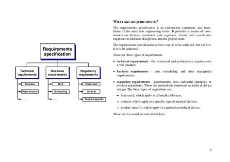 device product specification template design practice for devices