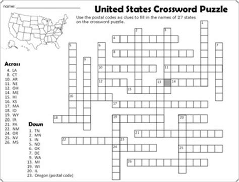 Search In United States United States Crossword Puzzle And Word Search By Paula And Palmer
