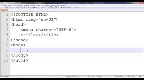 tutorial css notepad how to make html 5 and css 3 coding fast in notepad in