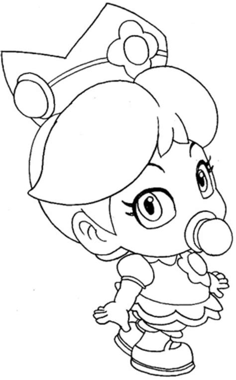baby princess peach coloring pages coloring home