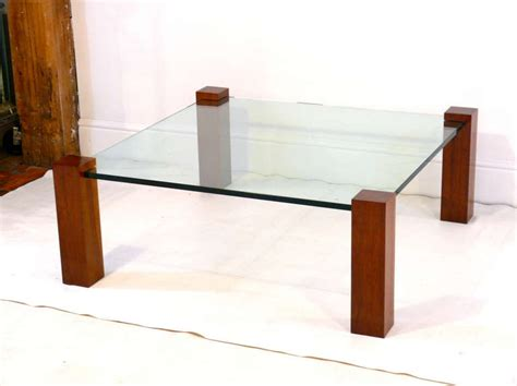 floating walnut and glass coffee table at 1stdibs