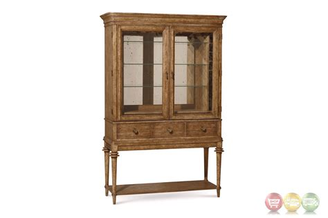 Glass Bar Cabinet Pavilion Coastal Pine And Glass Bar Cabinet With Finish