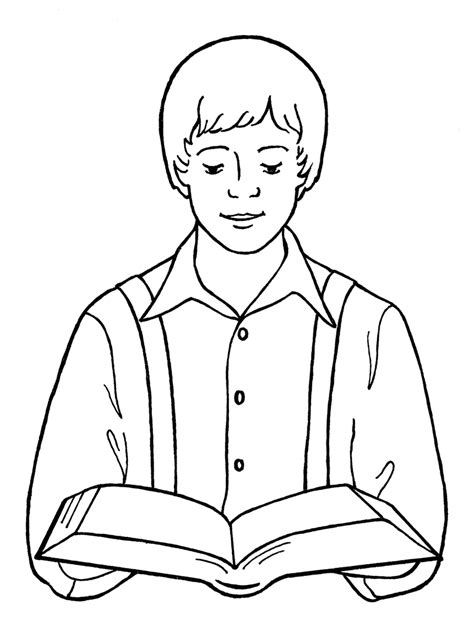 lds coloring pages joseph smith joseph smith reading scriptures