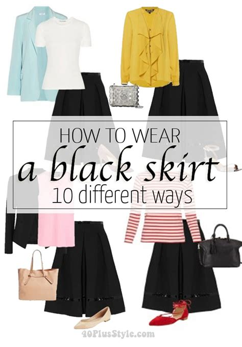 Were The Same But One Wears A Skirt by How To Wear A Black Skirt 10 Different Ways Casual Work