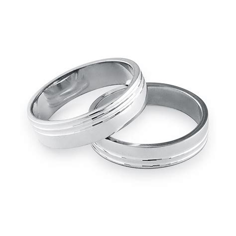 stylish sterling silver 4 5mm flat band wedding ring with
