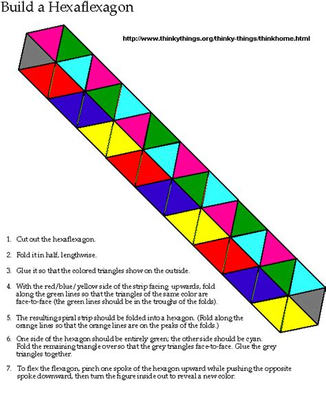 How To Make A Paper Hexaflexagon - 1000 images about hexaflexagon on math