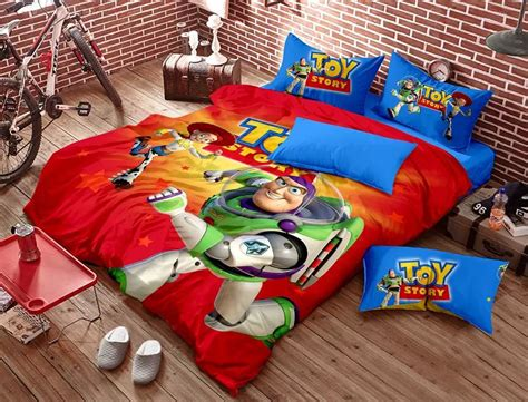 toy story bedroom set aliexpress com buy toy story bedding bedding set red blue kids cartoon queen size