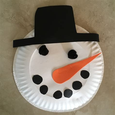 How To Make A Paper Plate Snowman - what i live for paper plate snowman