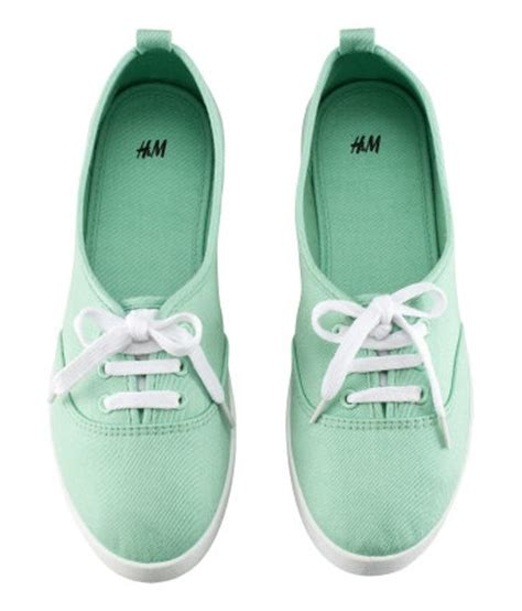 mint green sneakers h shoes