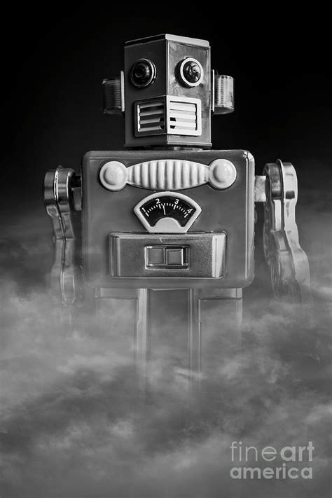 Take Me To Your Leader Vintage Tin Toy Robot Black And