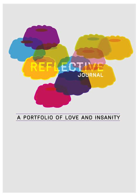 graphic design reflective journal reflective journal book on behance