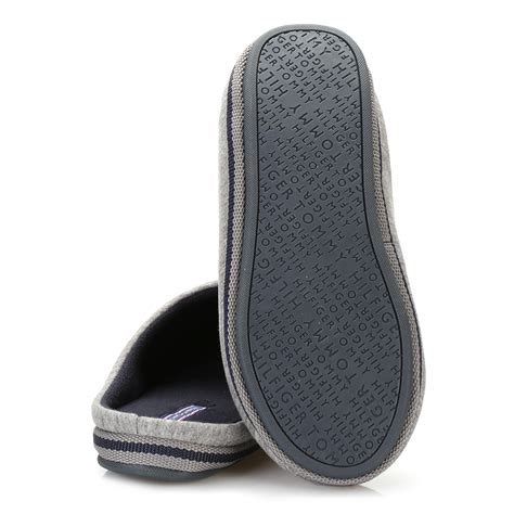 hilfiger slippers mens hilfiger mens slippers grey textile slip on home