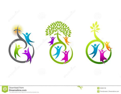 symbol of growth christian cartoons illustrations vector stock images