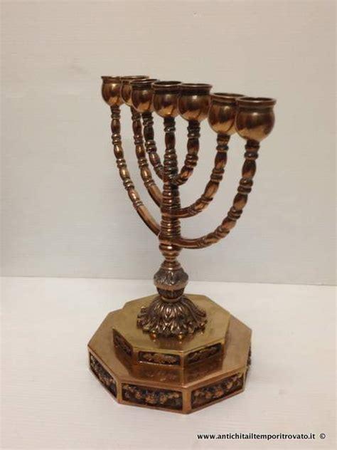 candeliere ebraico antichit 224 il tempo ritrovato antiquariato e restauro