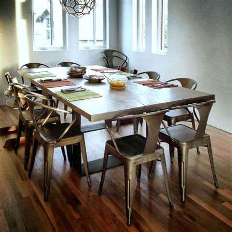 reclaimed wood dining table contemporary dining tables dining table utilizing reclaimed barn wood planks