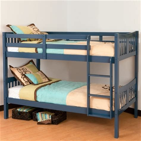 Stork Craft Bunk Beds Storkcraft Caribou Bunk Bed In Navy Free Shipping 359 95