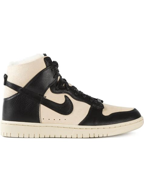 dunk sneakers nike air dunk sneakers in black for lyst