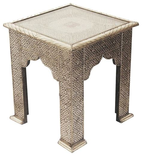 Moroccan Side Table Moroccan Embossed Silver Side Table Side Tables And End Tables By Shades Of Light