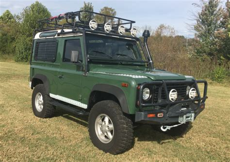 80s land rover 1995 land rover defender 90 nas 5 speed for sale on bat