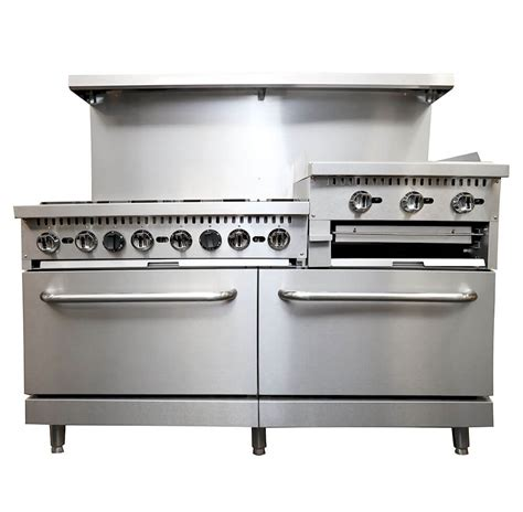 Commercial Kitchen Broiler by Commercial Gas Range Griddle 24 Inches Broiler 6br Ng